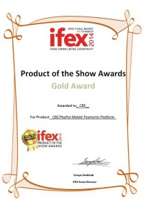 CBE's Gold Award at the Product of the Show Award, IFEX 2014