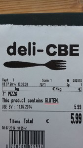 Allergen Sample Label