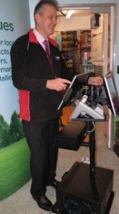 Award winning retailer, David Charman, operating the newly installed MPOS from CBE