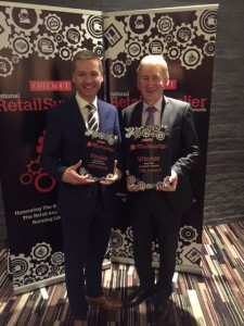 Seamus McHugh (International Sales and Marketing Manager, CBE) and John Henry (Sales Director, CBE) accepting the award