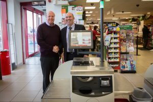 Michael Smith, Supervalu Athlone and Sean Kenna, MD CBE (Self Checkout Machine)