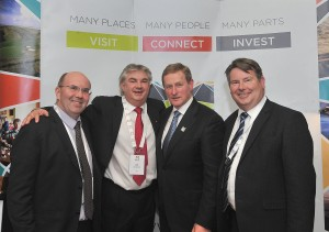 Sean Kenna, MD CBE; Gerard Concannon, CEO CBE; An Taoiseach Enda Kenny; Seamus Murray, Financial Controller CBE