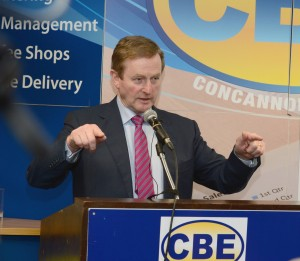An Taoiseach Enda Kenny at CBE's Head Office in Claremorris
