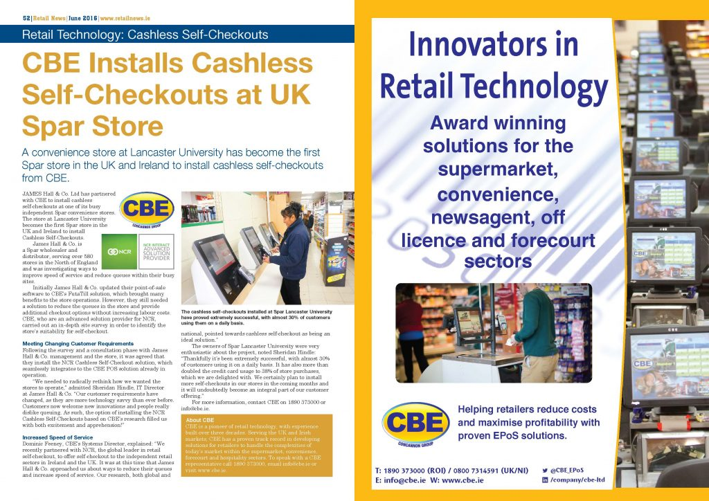 Retail News Article and Advert June 2016