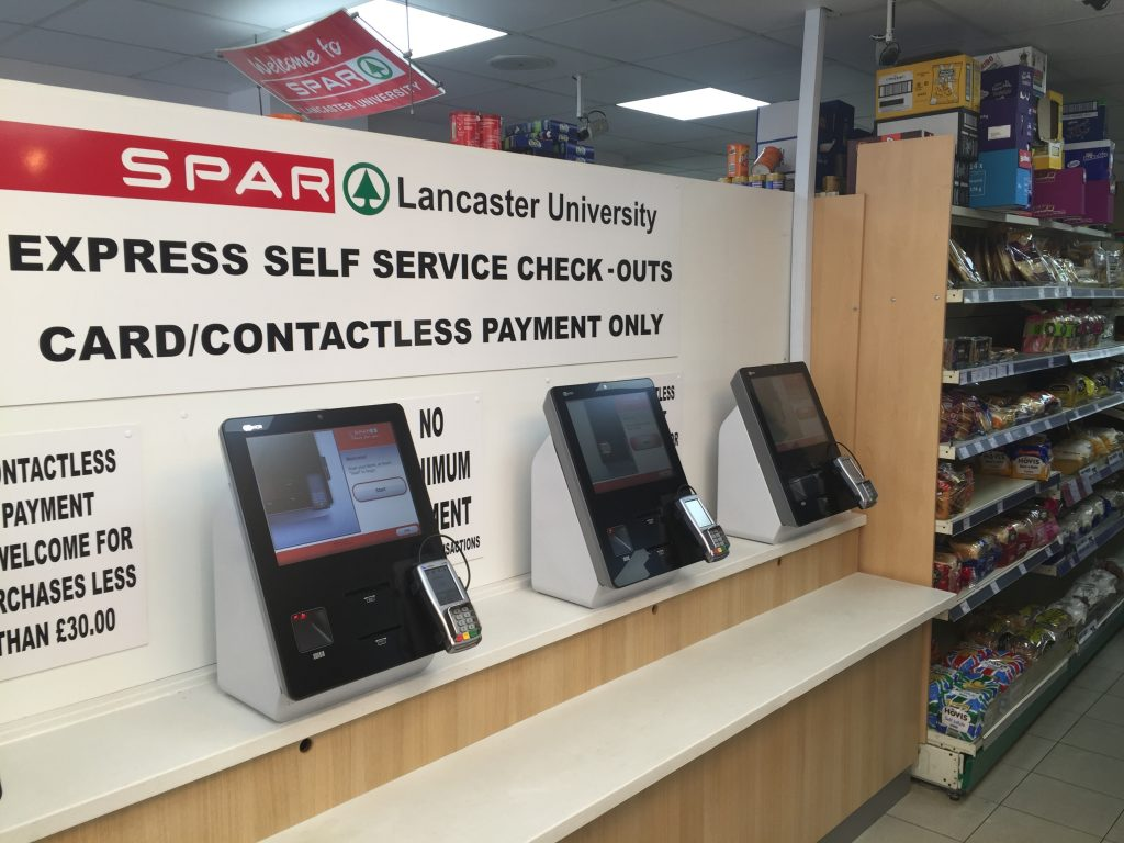 Cashless selfcheckout in SPAR Lancaster University