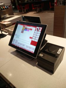 CBE EPoS Solution in KFC Field's Shopping Centre, Copenhagen