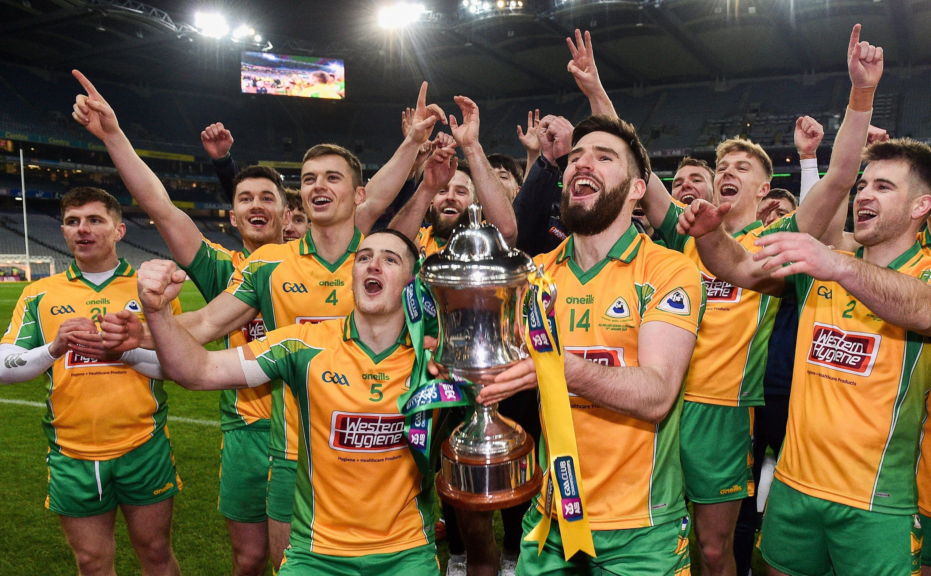 CBE's Ronan Steede and Ciarán Brady help Corofin GAA capture historic 3 in-a-row Club All-Ireland
