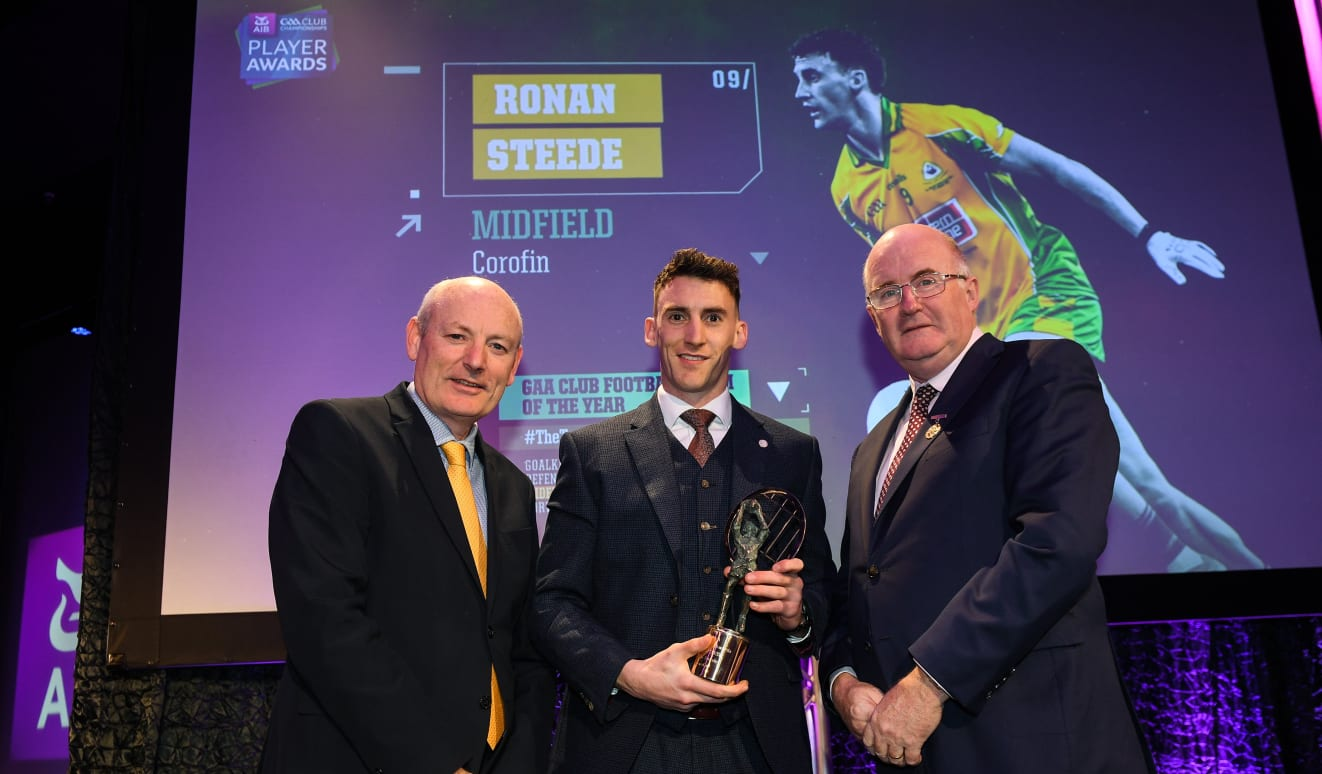 CBE's Ronan Steede named AIB GAA Club Footballer of the Year